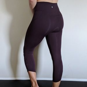 Adorable Purple Lululemon Leggings with detail